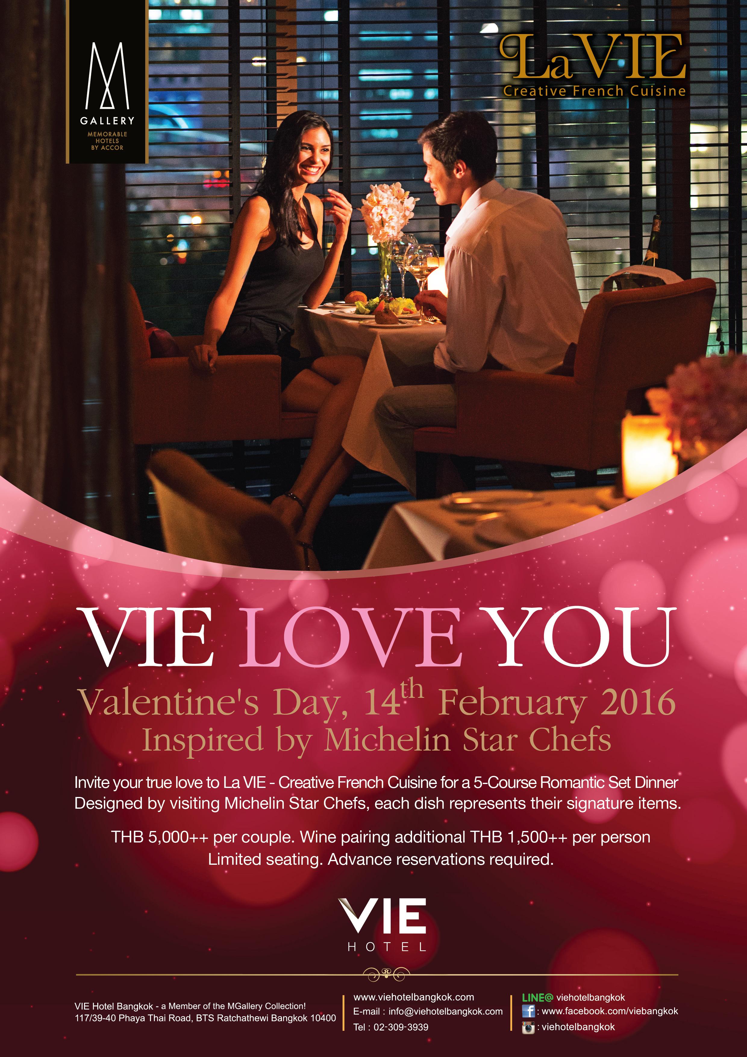 VIE LOVE YOU - Valentine's Set Dinner inspired by Michelin Star Chef