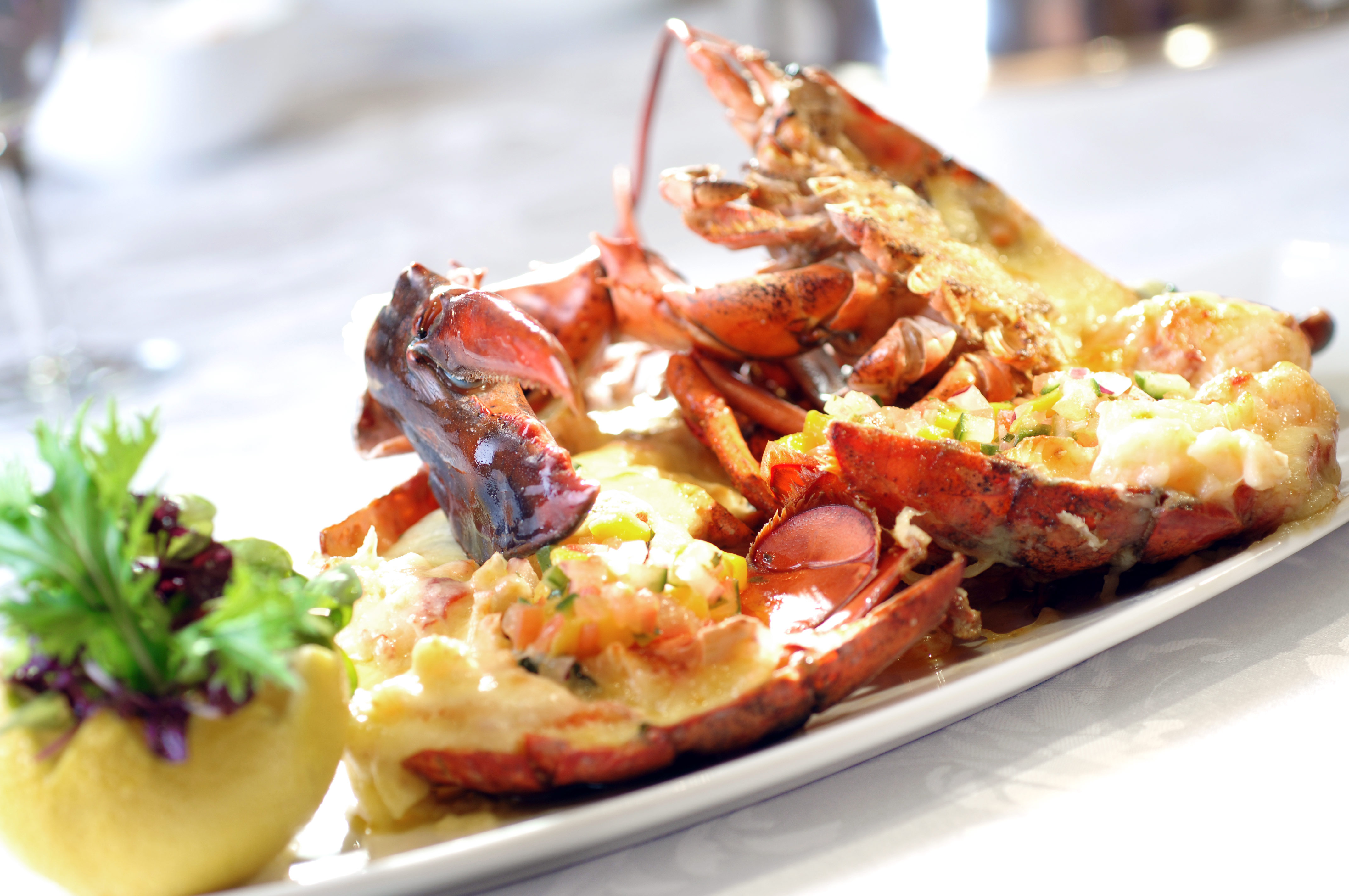 Lobster Thermidor - Egg -Citing Easter Feasting atThe Rain Tree Cafe