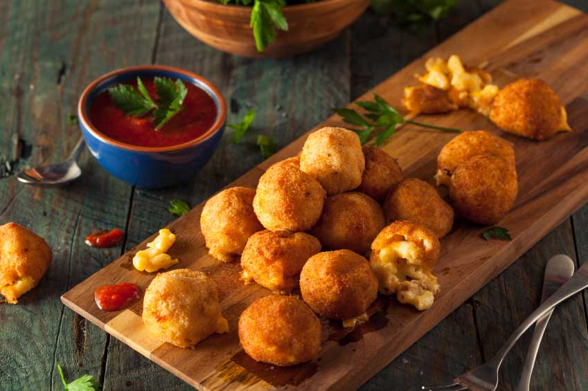 Fried Mac and Cheese Bites with Dipping Sauce